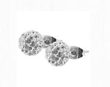 Titan Titanium Kugel Ohrstecker schmuck Ohrringe Zirkonia Brilli Damen 6 mm  II