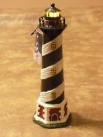 """Ceramic Tabletop Lighthouse Wal-Mart Hand-painted Decor 8"""" T x 2"""" W"""