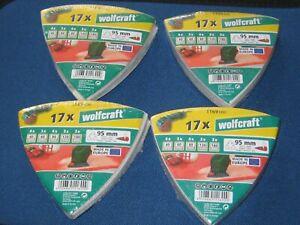 64 Schleifdreiecke Dreieck Schleifpapier für Deltaschleifer 95mm