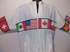 1541 Santiago Sporta 80s World Flags Windbreaker Jacket Size M Vintage Very Rare