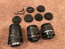 LOT 3x Canon and Sigma EF Lens's - EOS EFs 18-55; 3.5-5.6, Sigma 100-300 4.5-6.7