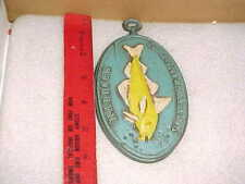 1969 Midwest Co. Painted Metal Fish Homarus Wall Plaque