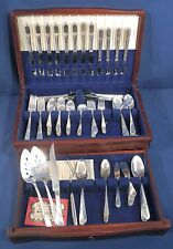 Wm Rogers IS International Silverplate Marylou Devonshire 127 pcs Set with Box