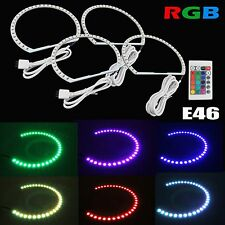 Multi-Color RGB LED Angel Eye Halo Rings For BMW E39 E46 3 5 7 Series Headlight
