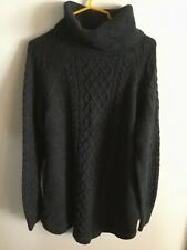 Gap Maternity Cable Knit Sweater Size L ~ Graphite