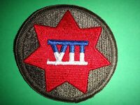 US Army VII CORPS 7th Corps Merrowed Edge Patch