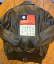 A-2 US. Army Air Force flight  Jacket 48R XL Leather Blood Chit USA Excellent