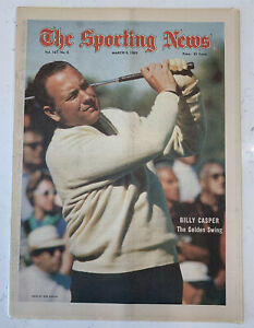 The Sporting News March 8, 1969 Billy Casper Golf Cover (B33)