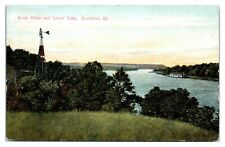Early 1900s Rock River and Loves Park, Rockford, IL Postcard *5N(2)34