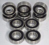 8-Pack Skate Bearings, 608rs/8mm Roller/Inline/Hockey/Rollerblade/Skateboard