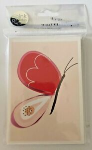 2 Packs of 8 Think Of Me Design Red Butterfly Invitation Blank Cards & Envelopes