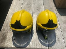 MSA Gallet Fire Helmet + Integrated Lamp F1XF Yellow