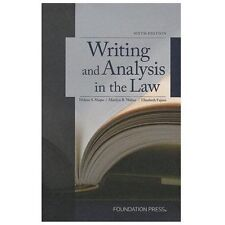 University Casebook: Writing and Analysis in the Law by Marilyn Walter,...