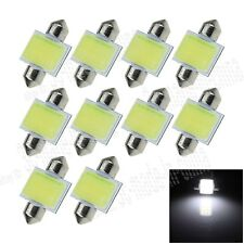 100X White 31MM 1 12 Chips COB Festoon Dome Map LED Light Bulb DE3425 I015