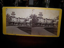 "R.S. DeLamater Stereoview of ""Armsmear"" Samuel Colt Family Home Hartford, Ct. VG"