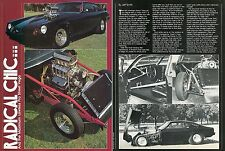 1982 Great 3 Page Pic & Article of Rick Timossi's 1977 Chevy Vega Pro Street