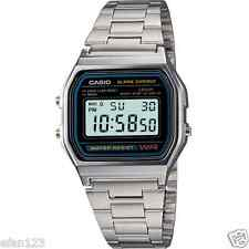 Casio A158wa-1d Vintage Digital Silver Stainless Steel Watch A158wa A158wa-1