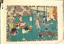 JAPANESE WOOD BLOCK PRINT TOYOKUNI 1850'S