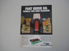 advertising Pubblicità 1982 TRATTORI FIAT SERIE 66