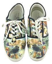 Bradford Exchange Shoes Sz 8 Wildlife Animal Safari Panda Charm Sneakers Tennis