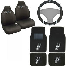 New NBA San Antonio Spurs Car Truck Seat Covers Floor Mats Steering Wheel Cover