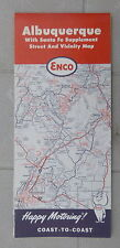 1963 Albuquaerque street  map ENCO  oil gas oil New Mexico Santa Fe