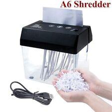 A6 A4 Mini USB Electric Paper Shredder Cutter Strip Cut Machine Tool Desktop