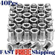 Rivet Nut Set Kit Stainless Steel Threaded Insert 1/4�-20 Nutsert Rivnuts Flat
