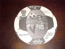 1973 San Jose Earthquakes NASL Soccer Ball Card Gonzalo Lalo Perez