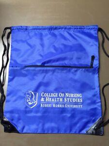 College Of Nursing & Health Studies Robert Morris Nylon Drawstring Bag Lot Of 30