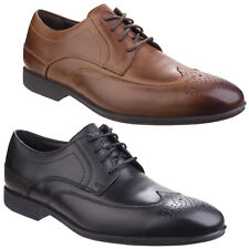 Rockport Style Connected Wing Tip Leather Lace Up Formal Shoes Mens