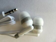 100x  Disposable head Phones Or Ear Buds White Color  Stereo Sound Good Quality