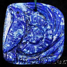 Fashion! Natural Lapis lazuli Carved Bird Pendant Bead