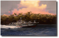 Devil Boat-PT191 by Jack Fellows - Fast Patrol-Torpedo Boat - Aviation Art - A/P