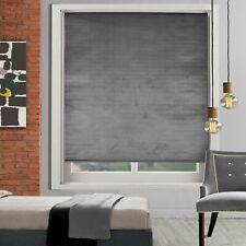 Easy Fix Room Darkening Premium Crushed Velvet Blinds Trimmable Plain Straight