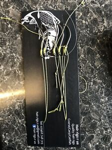 5 x Catfish Rigs Size 2/0 Barbed With 100lb  Braid Hair Rig Free Postage