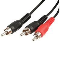 0.5m RCA Phono Y Splitter Cable 1 x Male to 2 x Male Audio Lead Adaptor Adapter