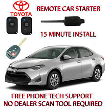 2017 2018  TOYOTA COROLLA REMOTE CAR START-NO WIRE SPLICING - REGULAR KEY ONLY