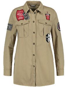 Samoon Sportive Jacke mit Badges by Gerry Weber Neu Blusenjacke Damen Gr.50
