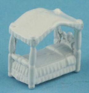 Dollhouse Miniature Mini Canopy Bed