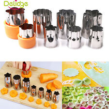 8Pcs Stainless Steel Flower Shape Fruit Vegetable Peelers Cookies Cutter Mold