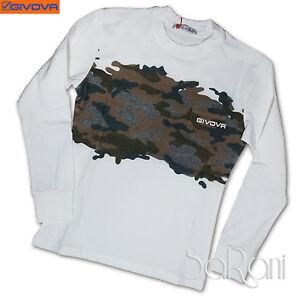 Camiseta Givova Suéter Fantasía Camuflaje Manga Larga Cuello Algodón 8-16 Años