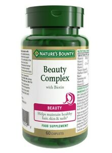 Nature's Bounty ® Beauty Complex with Biotin Caplets - Pack of 60
