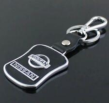 LG77 PU Leather Black Buckle Keyring For Nissan Car Logo Key Ring Keychain Gift