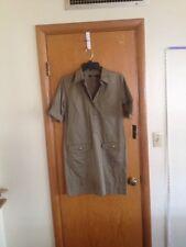 A41 Ralph Lauren Womens Beige Shirt Dress Petite Small PS NWT New Cotton Stretch