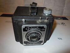 Vintage 1953 Traveler 120 Pho-Tak Corporation Camera 110mm Lens Synchro flash