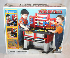 AMERICAN PLASTICS Toys DELUXE WORKBENCH Tool Set Kids Boy Pretend Play w/ BOX