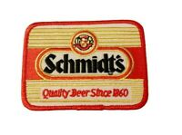 "Vintage Schmidt's Since 1860 Brewing Beer Distributor Cloth 4"" Patch 1980s NOS"