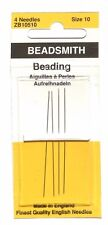 Beadsmith English Beading Needles #10 Needle Pack 4 count - Superior Quality!