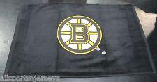 NHL NWT 15x25 SPORTS FAN TOWEL- BOSTON BRUINS - BLACK LOGO CENTER
